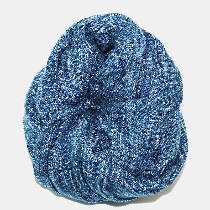 Line sjal blå