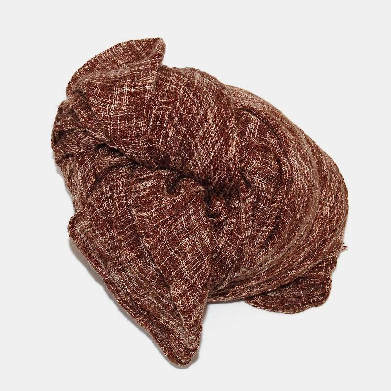 Line sjal brun