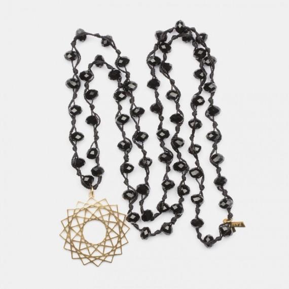Mandala Halsband Guld