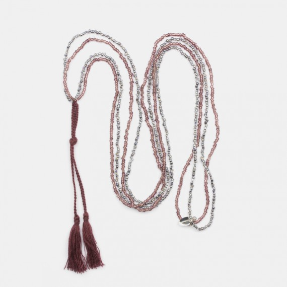 Pranayama Halsband Plommon