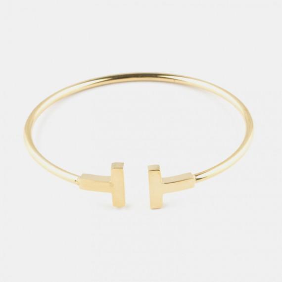 The T - Armband Guld