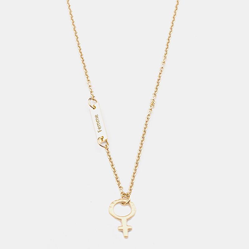 Femme Halsband 45cm Guld