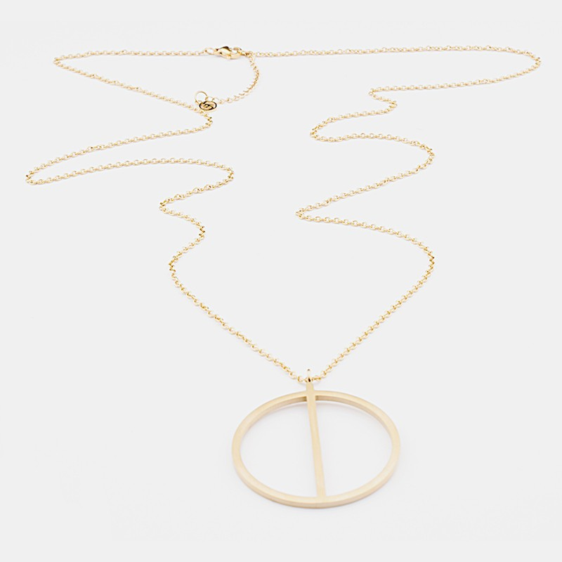 Genoa Halsband 90cm Guld