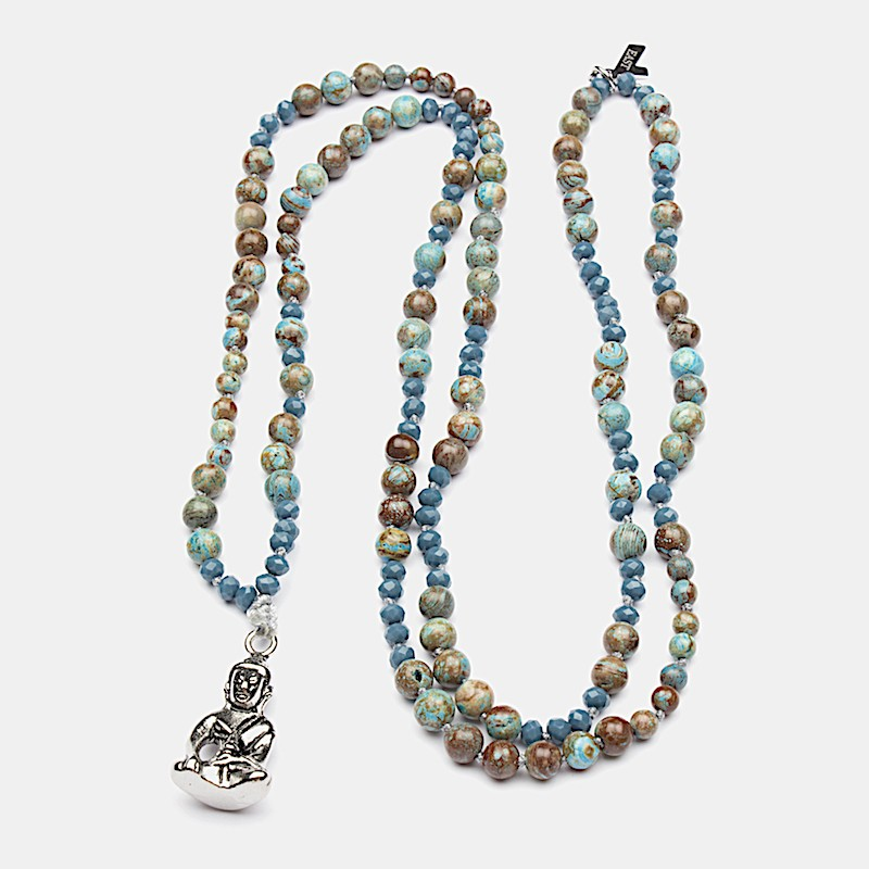 Namaste Halsband 90cm Turkos