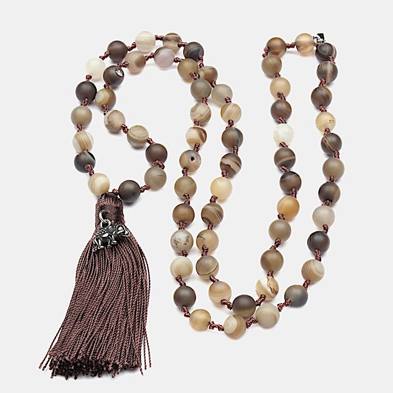 Chaturanga Halsband 90cm Brun