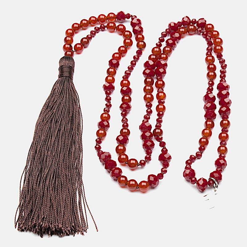 Kriya Halsband 90cm Röd