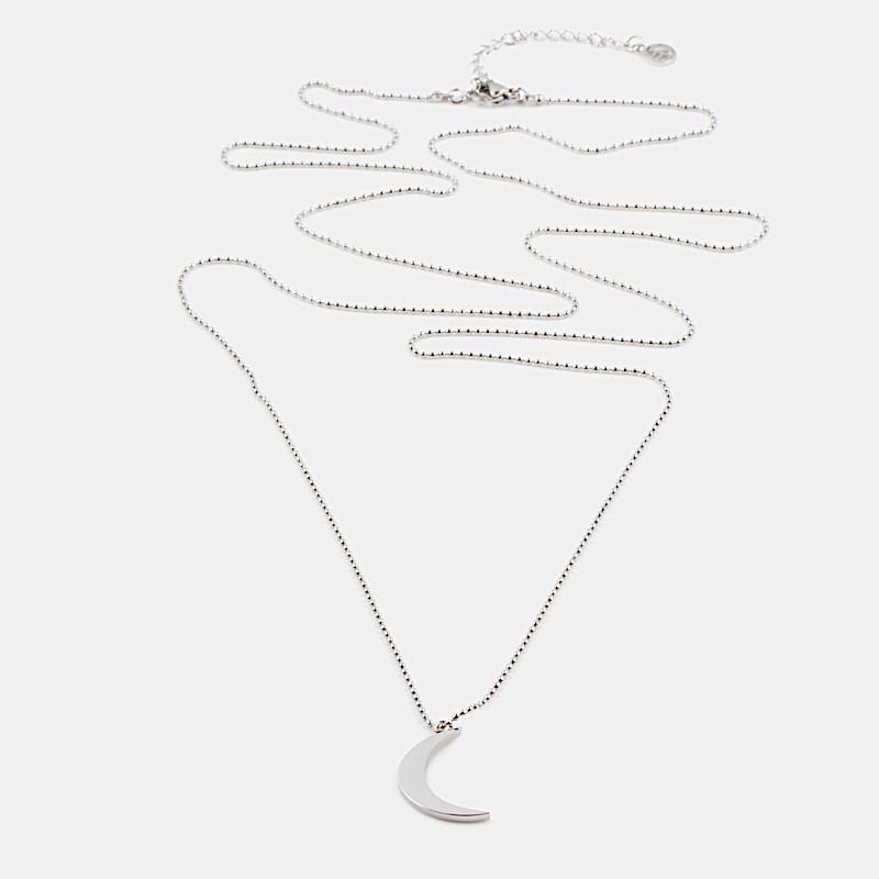 Yin Halsband 90cm Silver