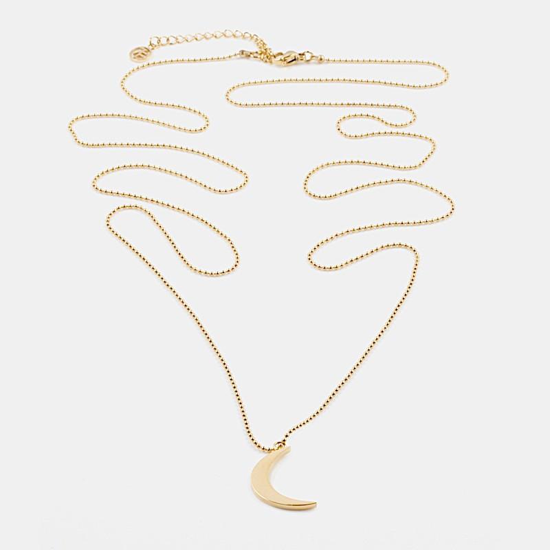 Yin Halsband 90cm Guld
