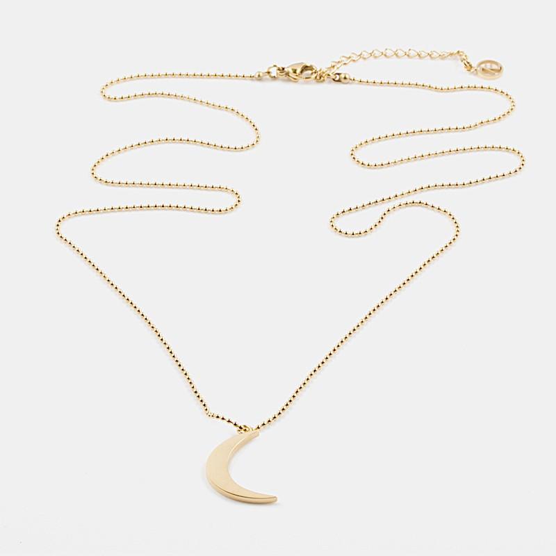 Yin Halsband 60cm Guld