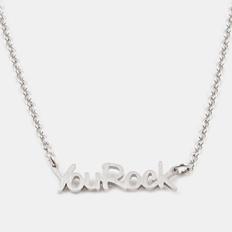 You Rock Halsband 42cm Silver