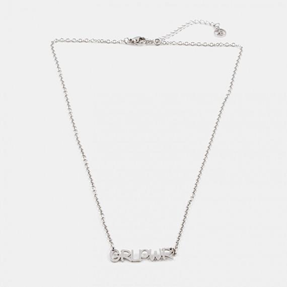GRL PWR Halsband 42cm Silver
