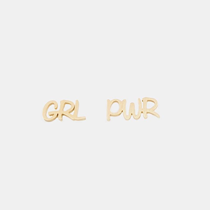 GRL PWR Örhänge Guld