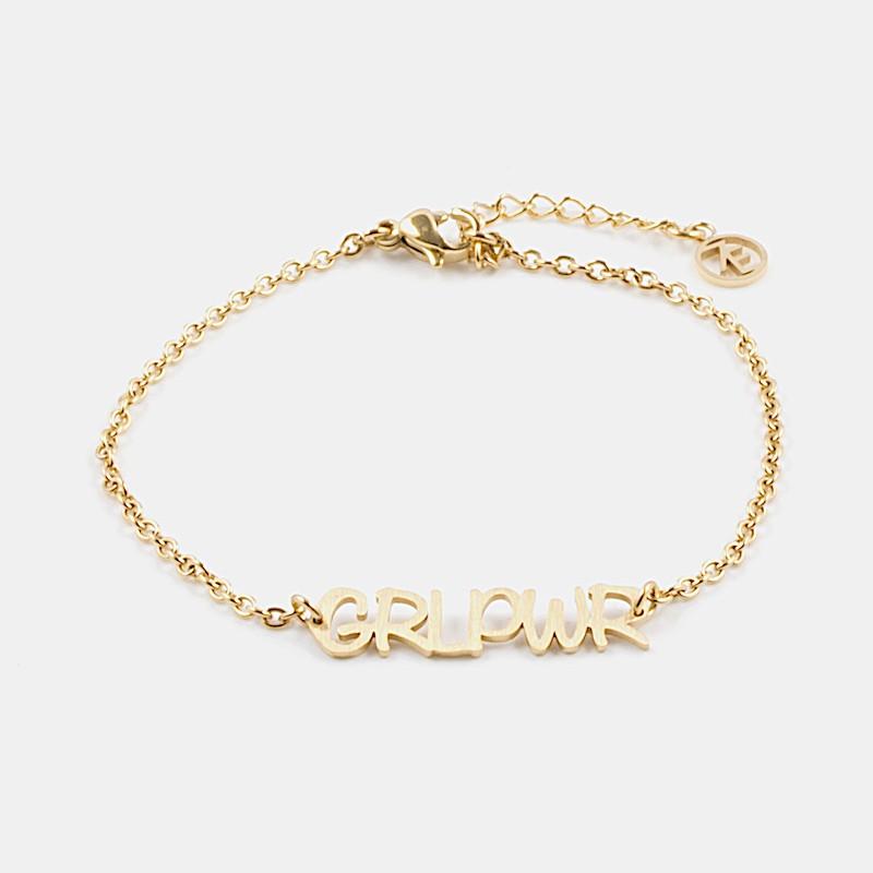 GRL PWR Armband Guld