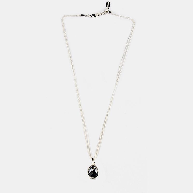 Shiny Halsband Silver