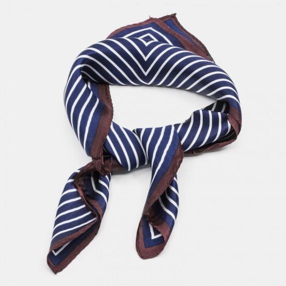 Silk scarf w grafic pattern