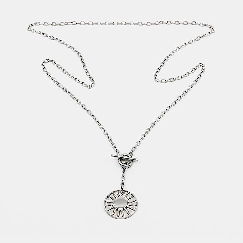 Sun Amulet Halsband Silver