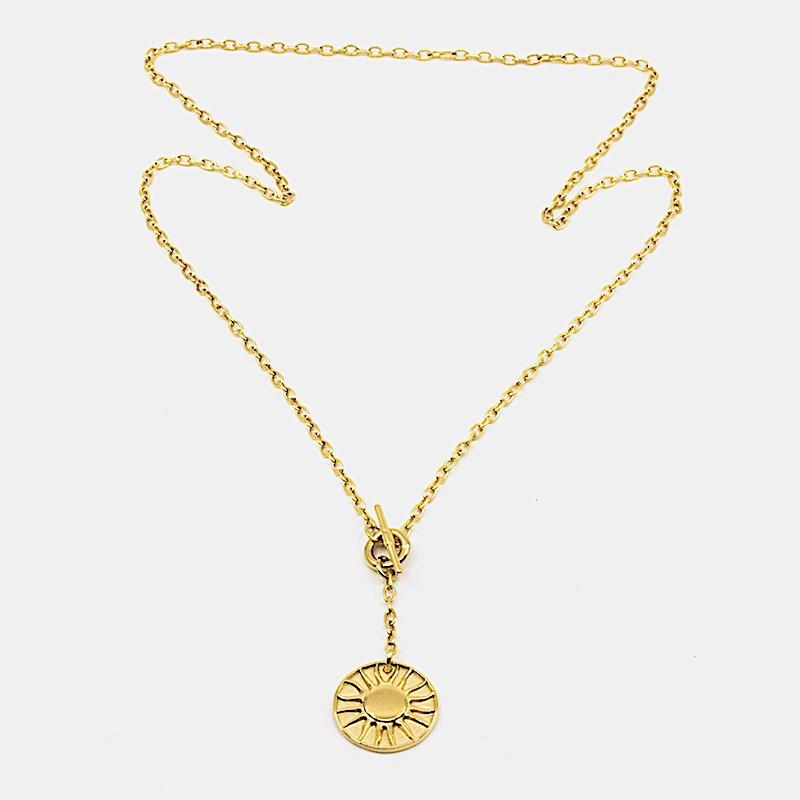 Sun Amulet Halsband Guld
