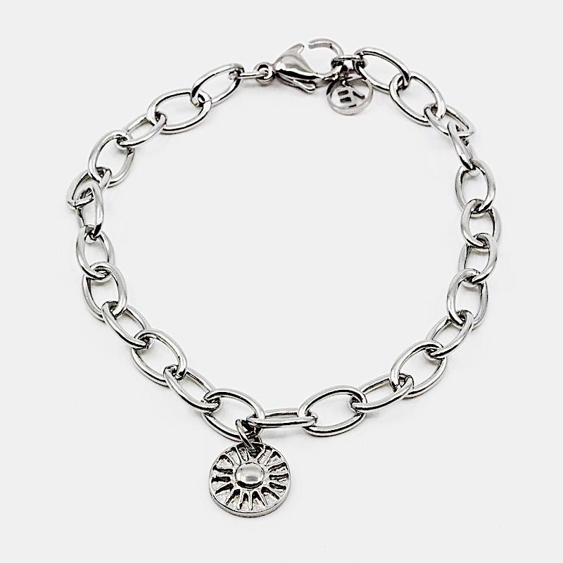 Sun Amulet Armband Silver