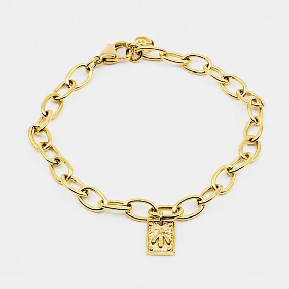 Fly Amulet Armband Guld