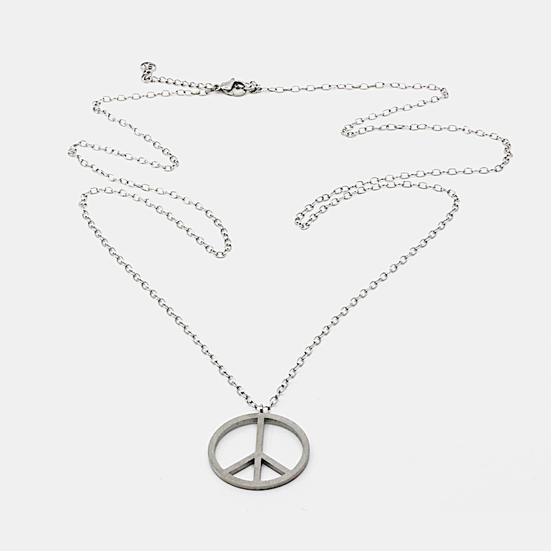 Big Peace Halsband Silver