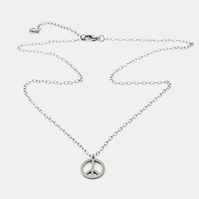 Small Peace Halsband Stål