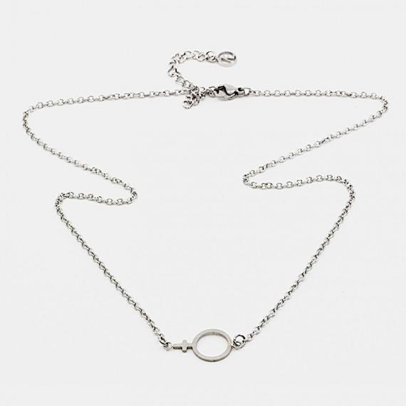 Female Halsband Stål