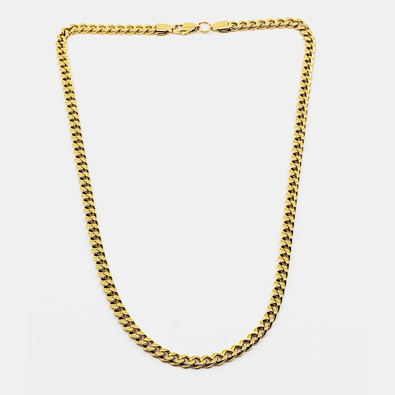 Flat Chain Halsband 55cm Guld
