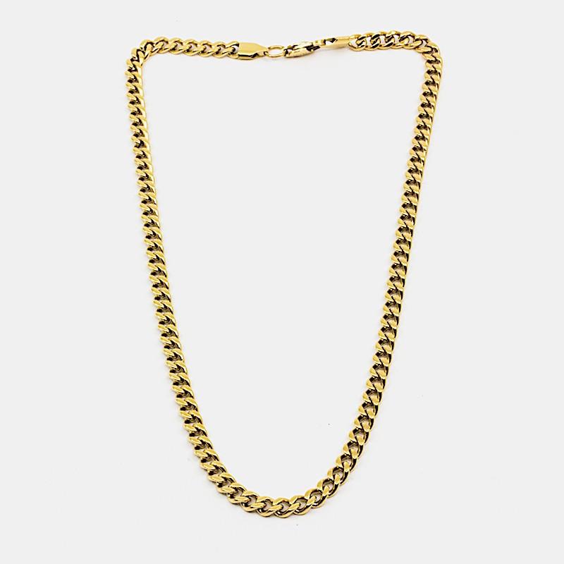 Flat Chain Halsband 42cm Guld