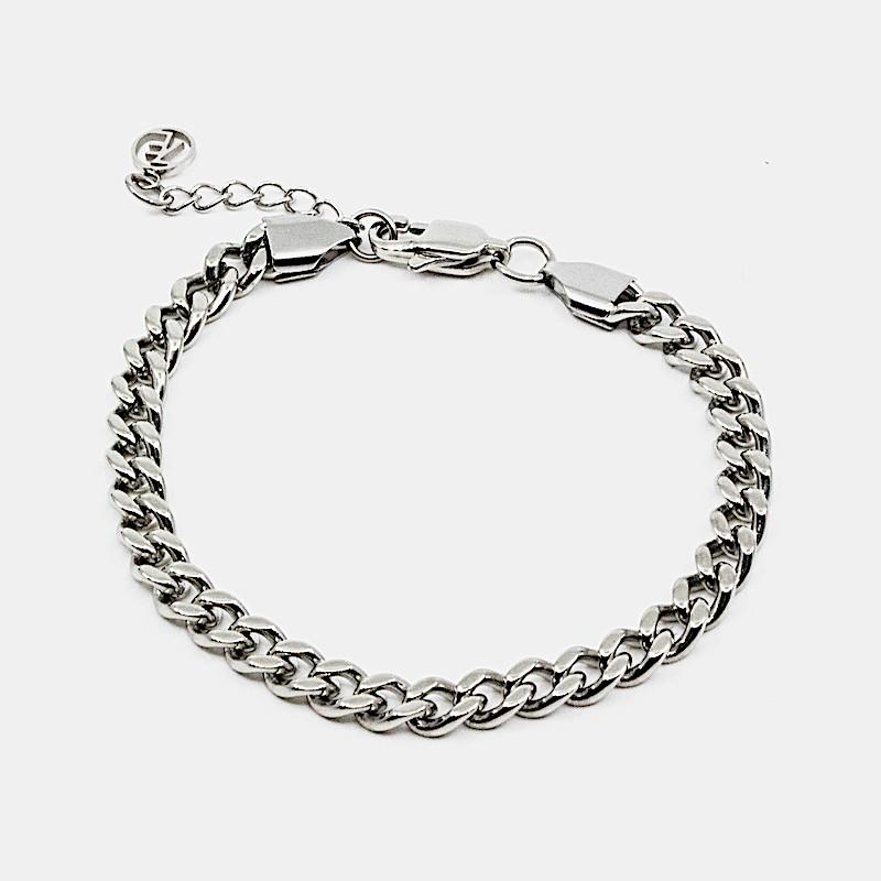 Flat Chain Armband Stål