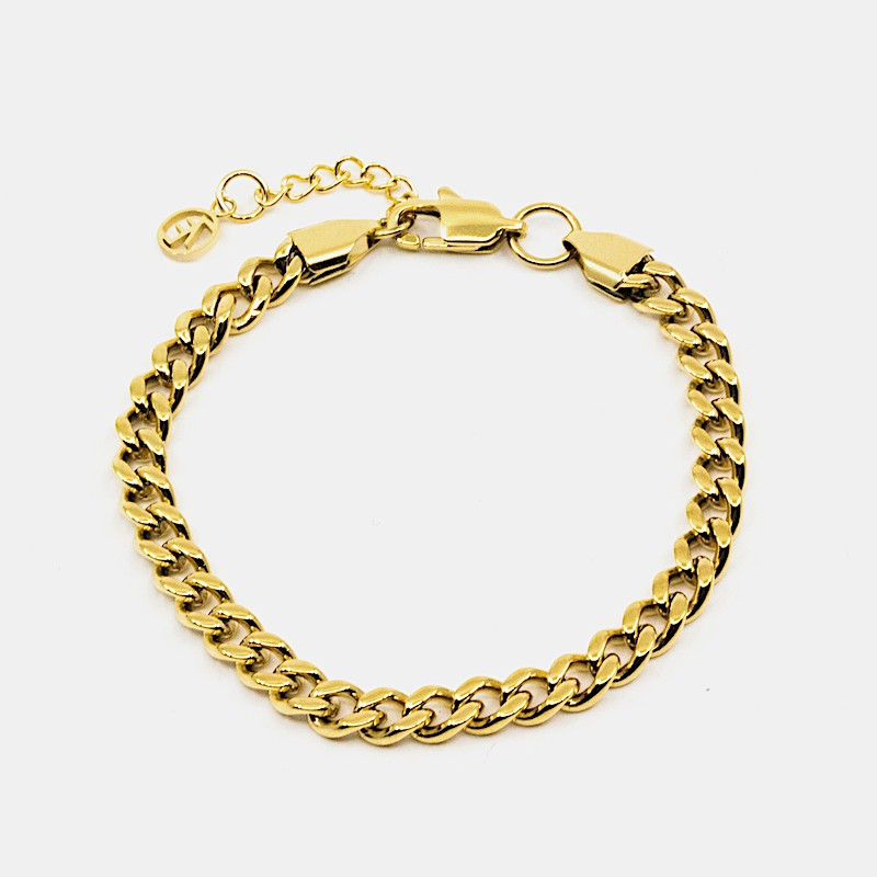 Flat Chain Armband Guld