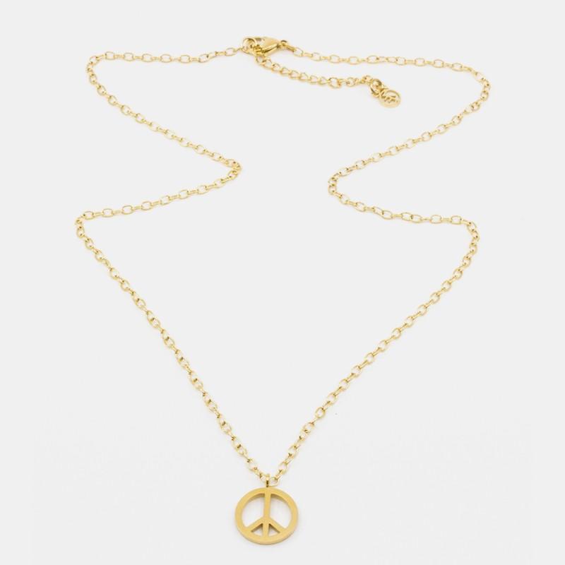 Small Peace Halsband Guld