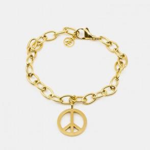 Small Peace Armband Guld