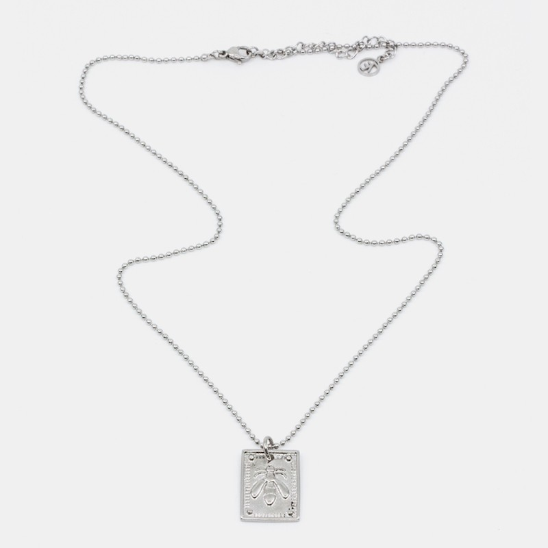 Bee Amulet Halsband Silver