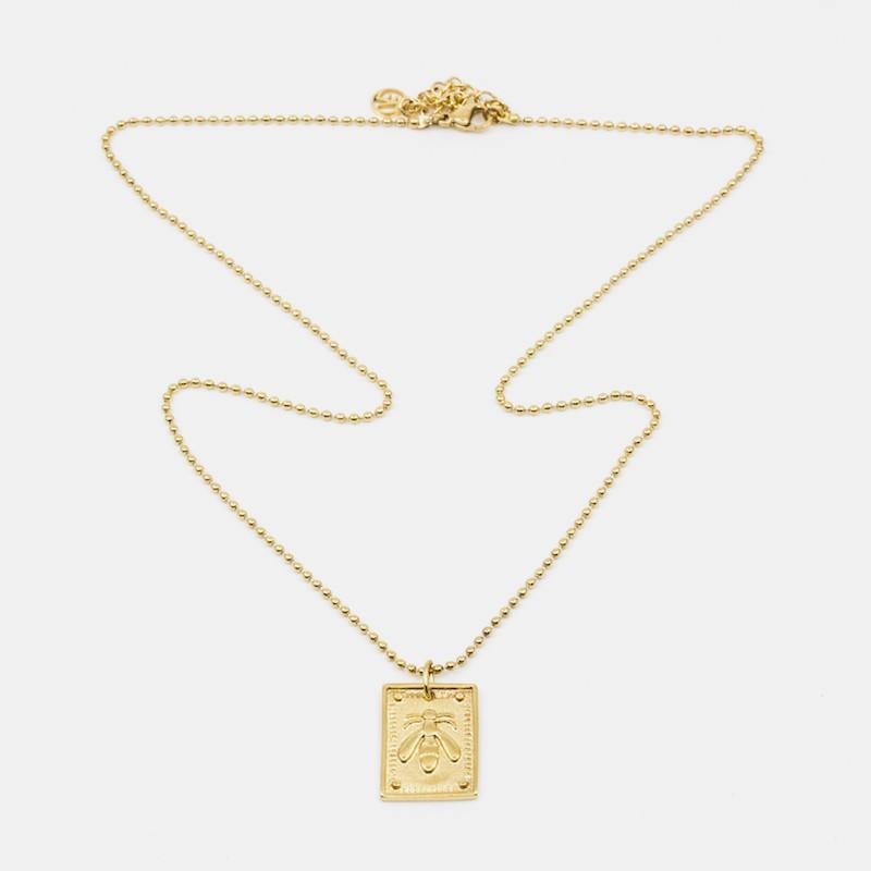Bee Amulet Halsband Guld