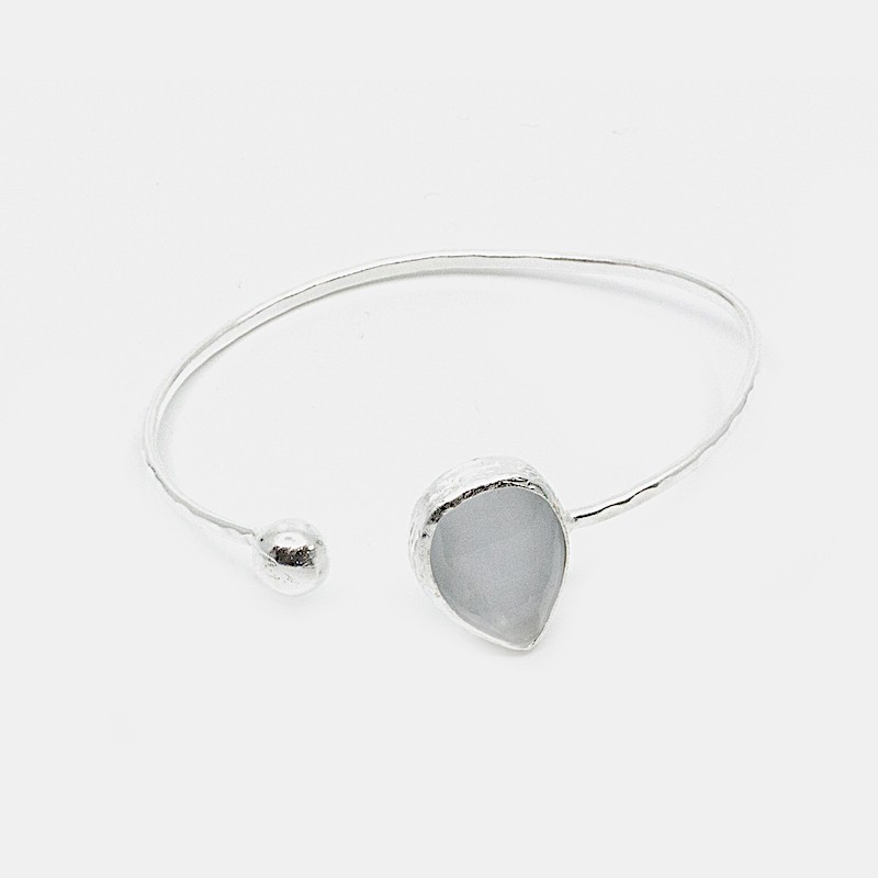 Lambda Armband Silver