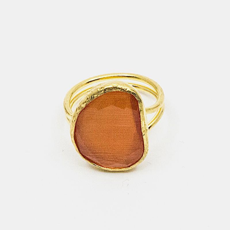 Omikron Ring Mörk Orange