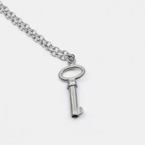 Big Key Halsband 90 Silver