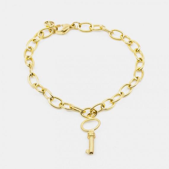 Small Key Armband Guld