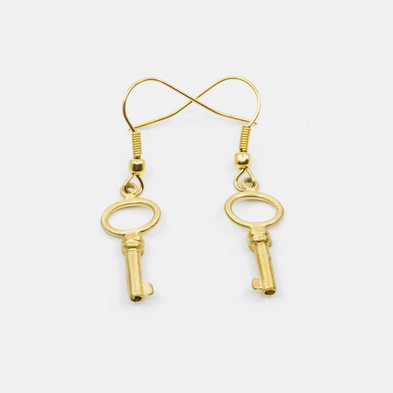 Small Key Örhänge Guld