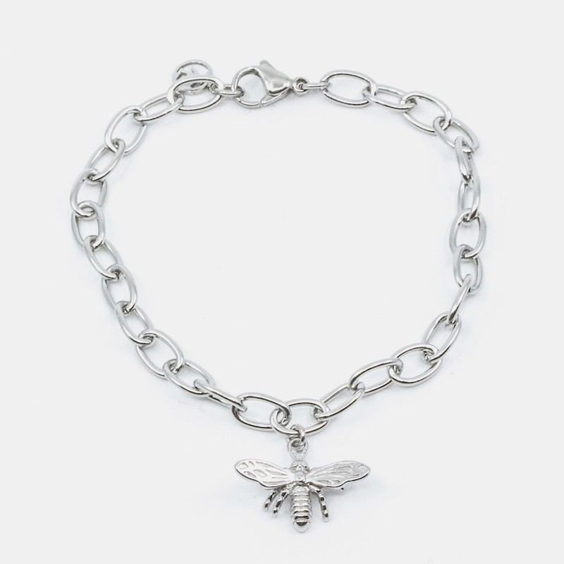 Bee Armband Silver