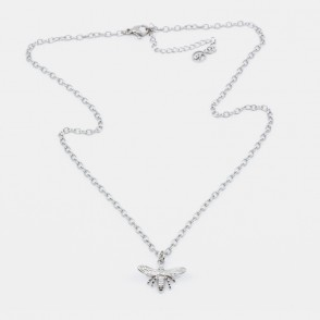 Bee Halsband 42 Silver