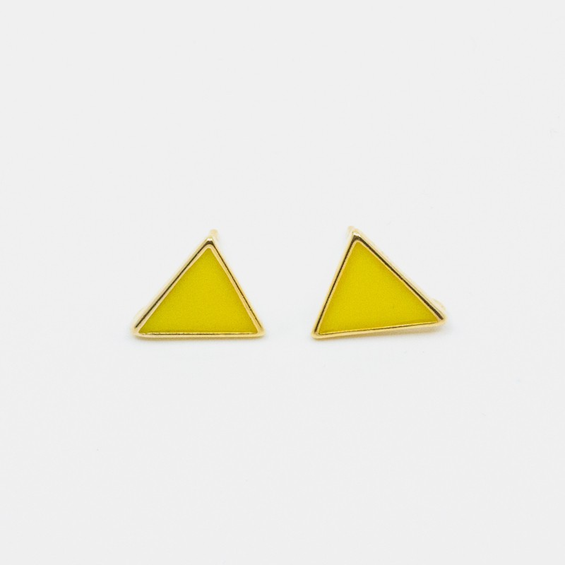 Triangle Örhänge Gul