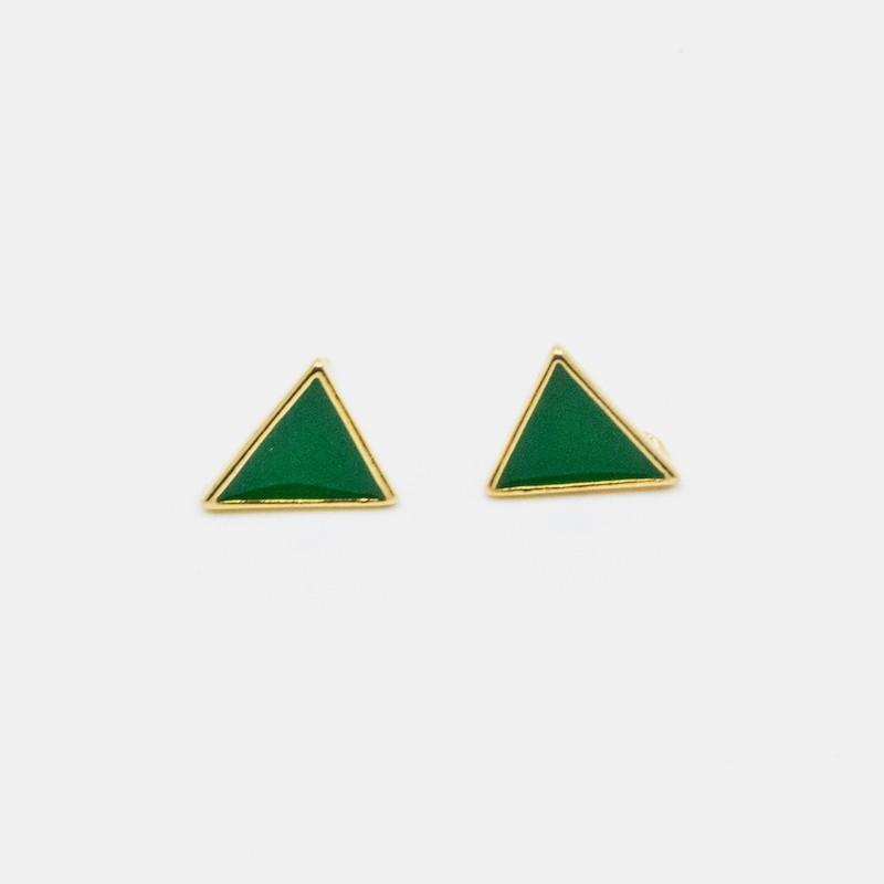 Triangle Örhänge Grön