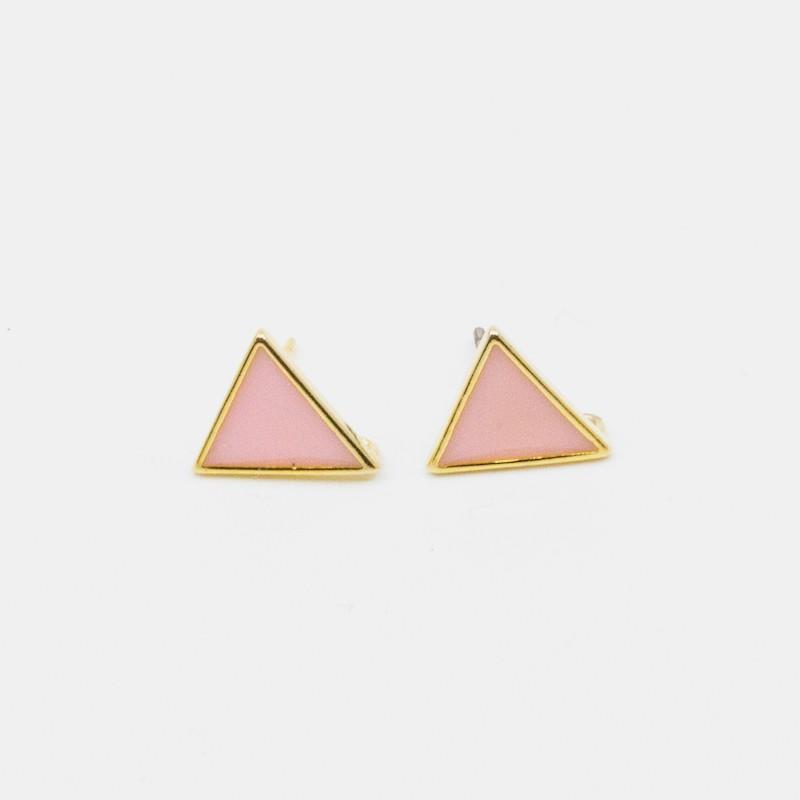 Triangle Örhänge Rosa