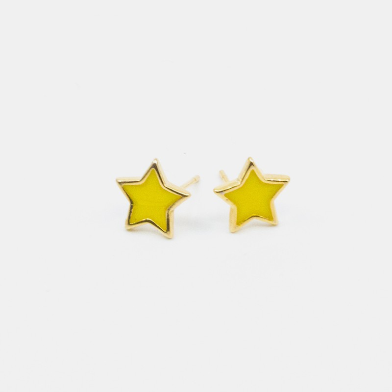 Star Örhänge Gul
