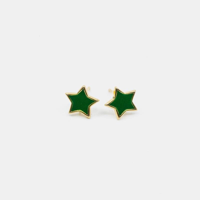 Star Örhänge Grön