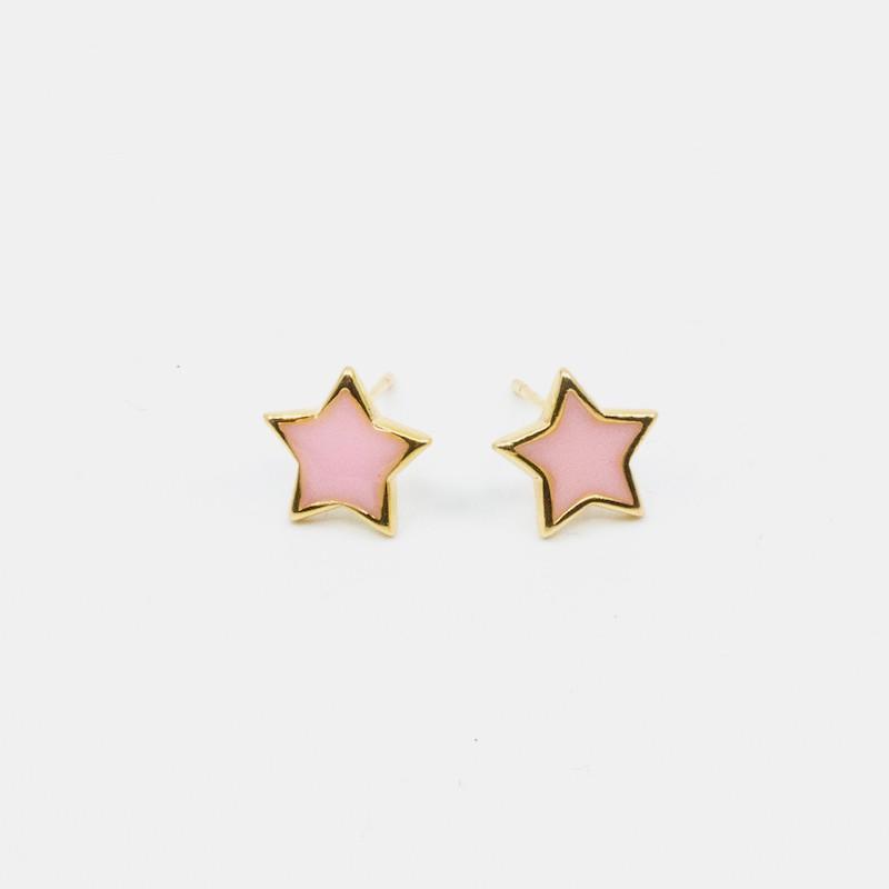 Star Örhänge Rosa
