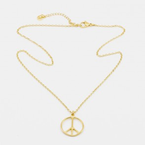 Peace Halsband 45 Guld