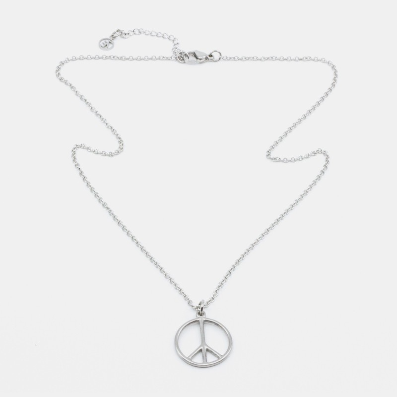 Peace Halsband 45 Silver