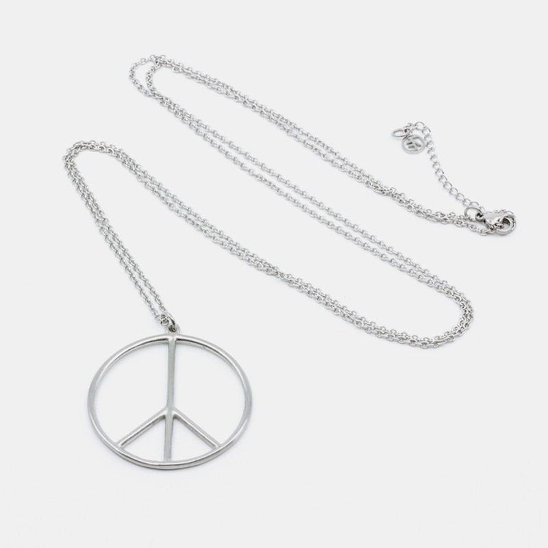 Peace Halsband 90 Silver